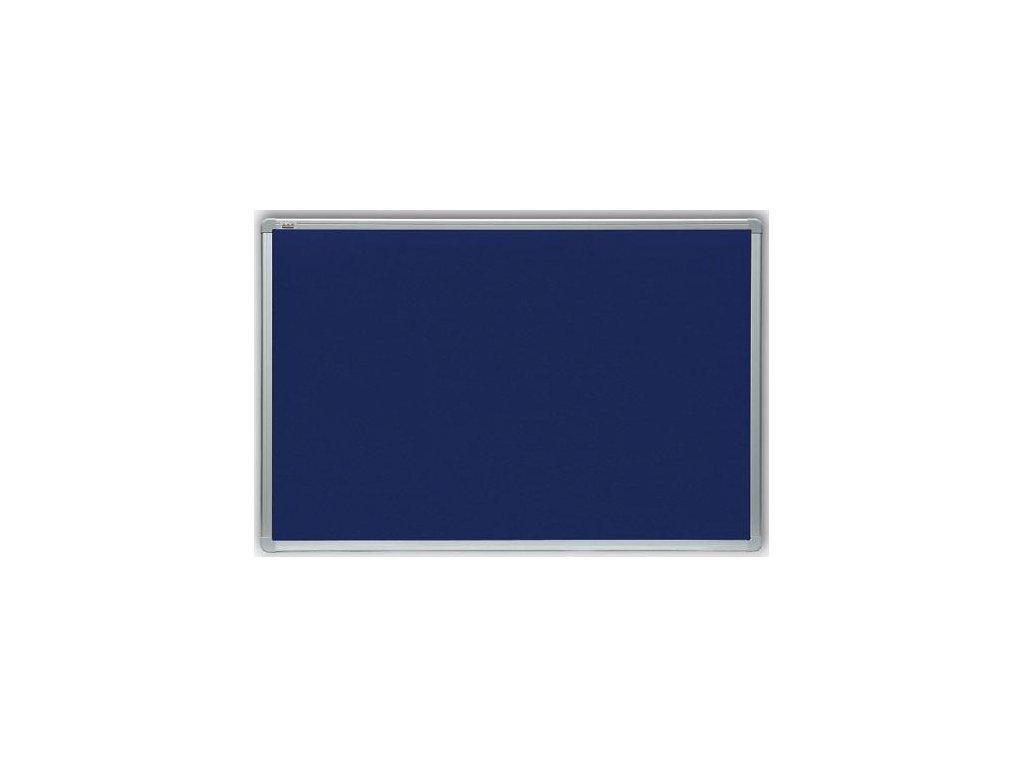 Modrá filcová tabule, hliníkový rám