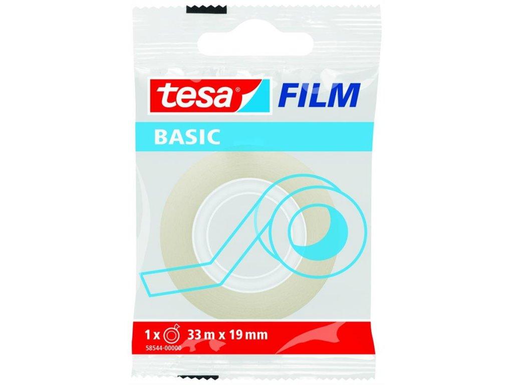 TESA, 33m x 19mm, lepicí páska průhledná