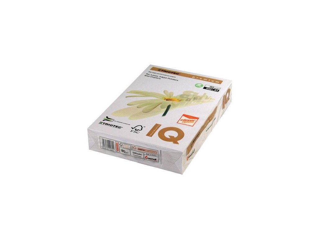 A3, 500 listů, IQ Premium TRIOTEC, xerografický papír A3/80g.