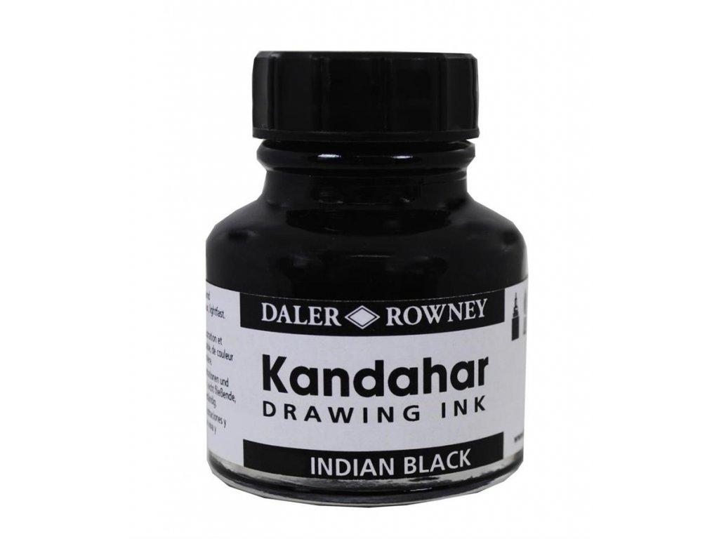 Daler-Rowney, černý inkoust 28ml., Kandahar Ink