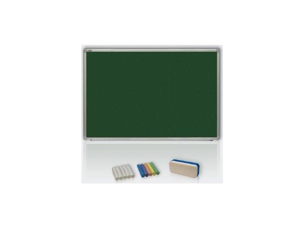 Lakovaná zelená magnetická školní tabule