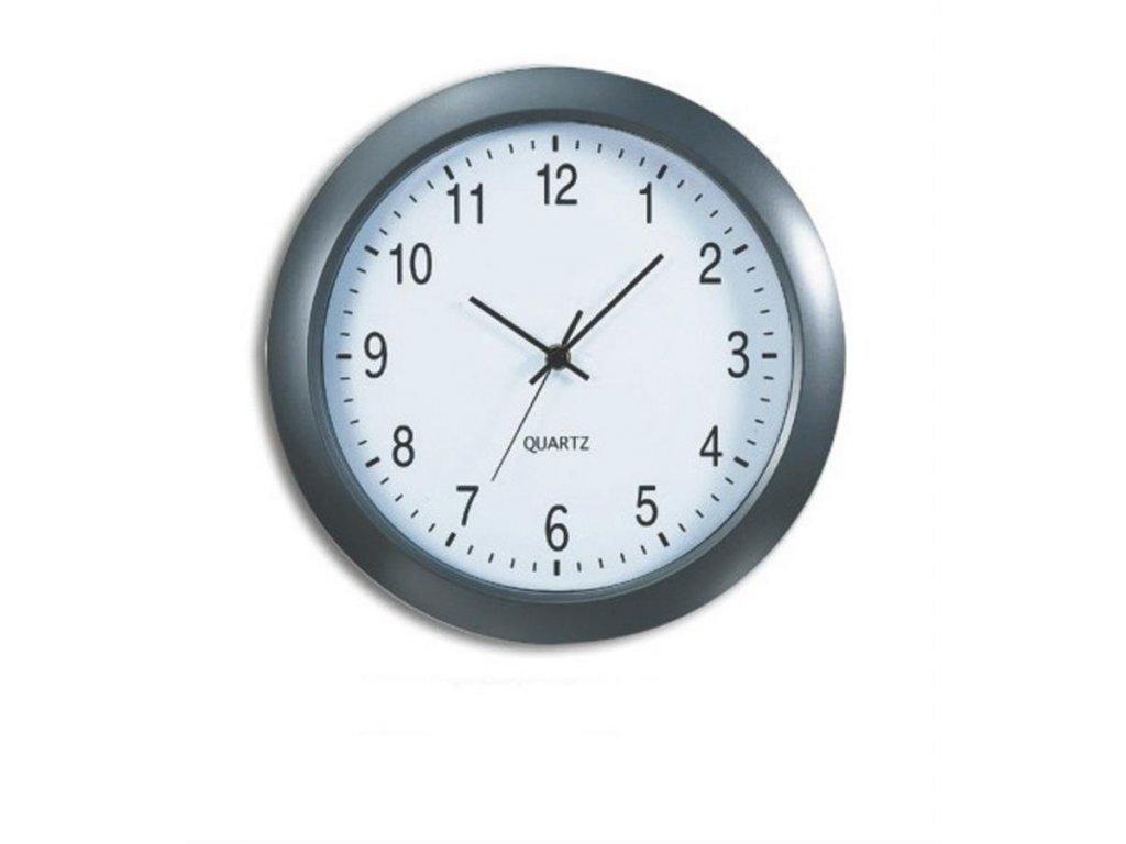 nástěnné hodiny Prague,  Ø 30,5 cm, šedé
