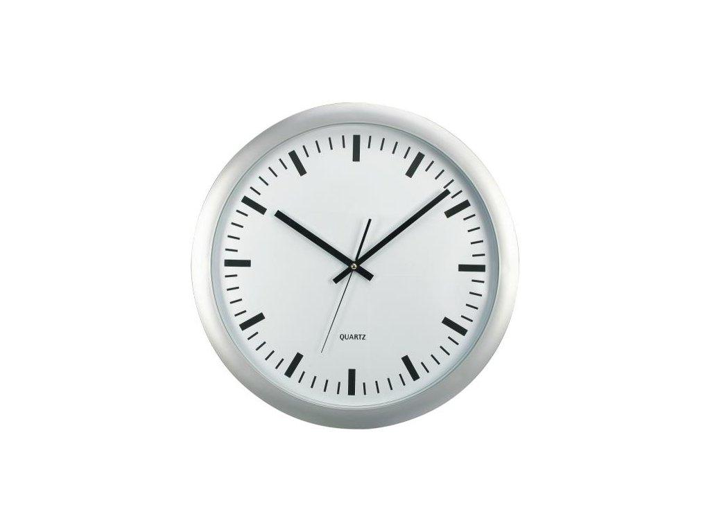 nástěnné hodiny XL, Ø 45,5 cm, stříbrné