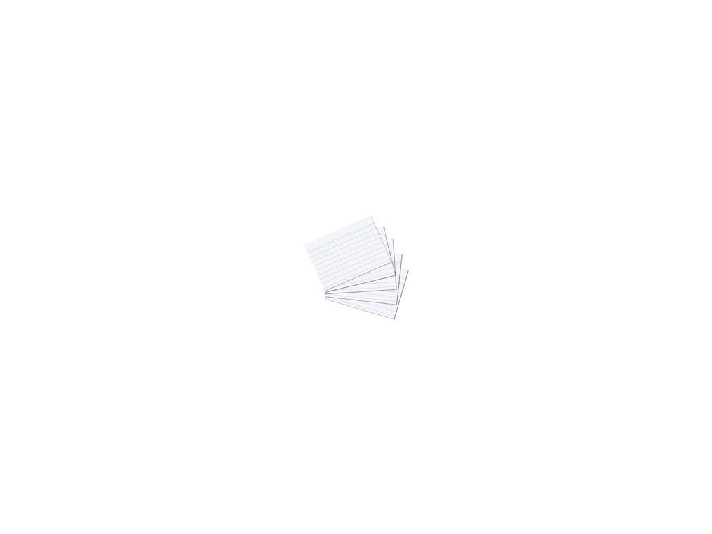 Herlitz, A5, lístky do kartotéky linkované