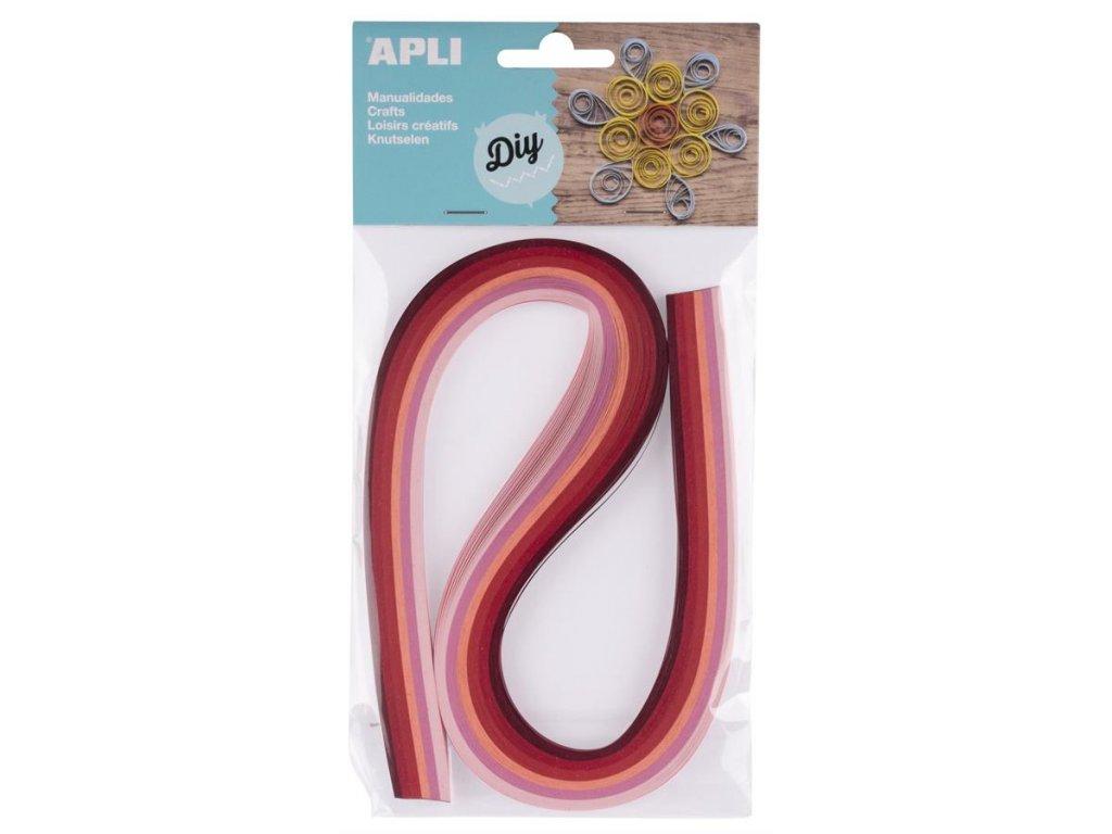 APLI, papírové proužky růžové pro quilling