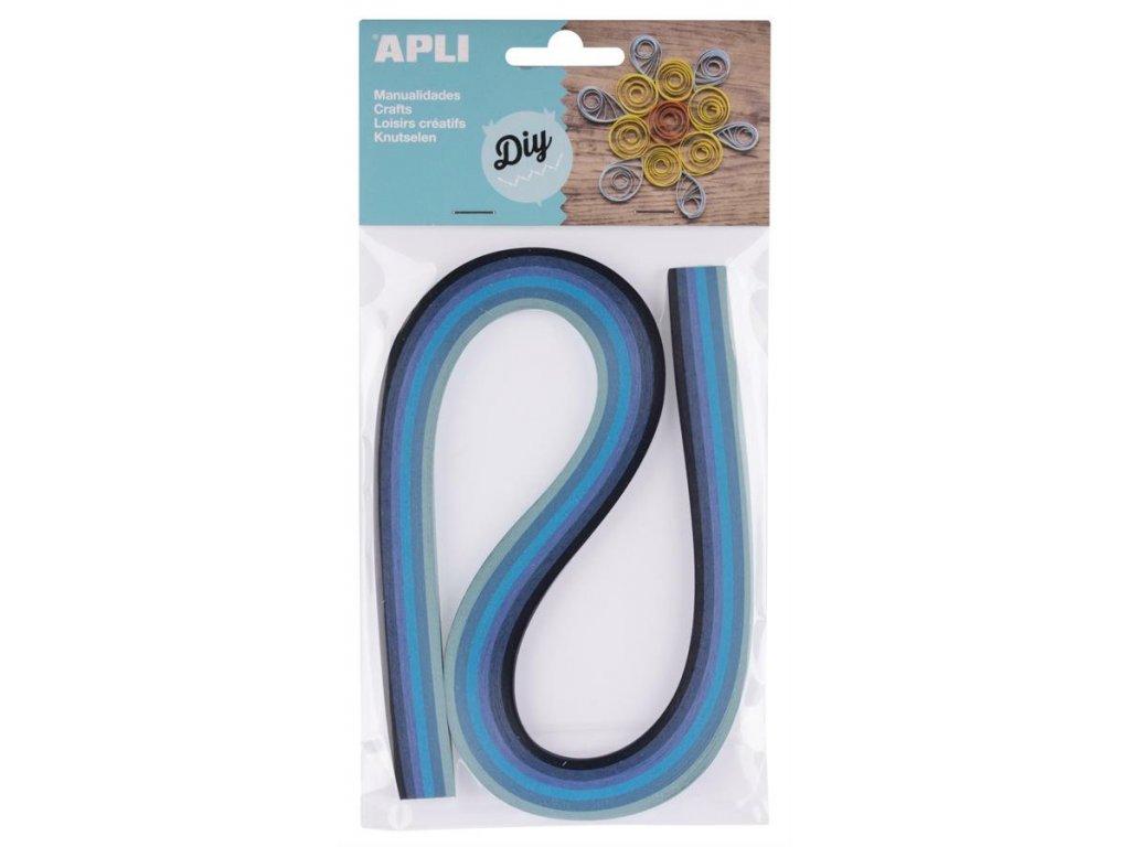 APLI, papírové proužky modré pro quilling