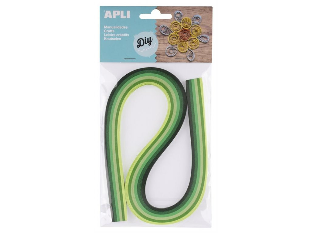 APLI, papírové proužky zelené pro quilling