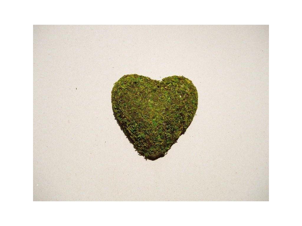 mechové srdce 110 mm z polystyrenu