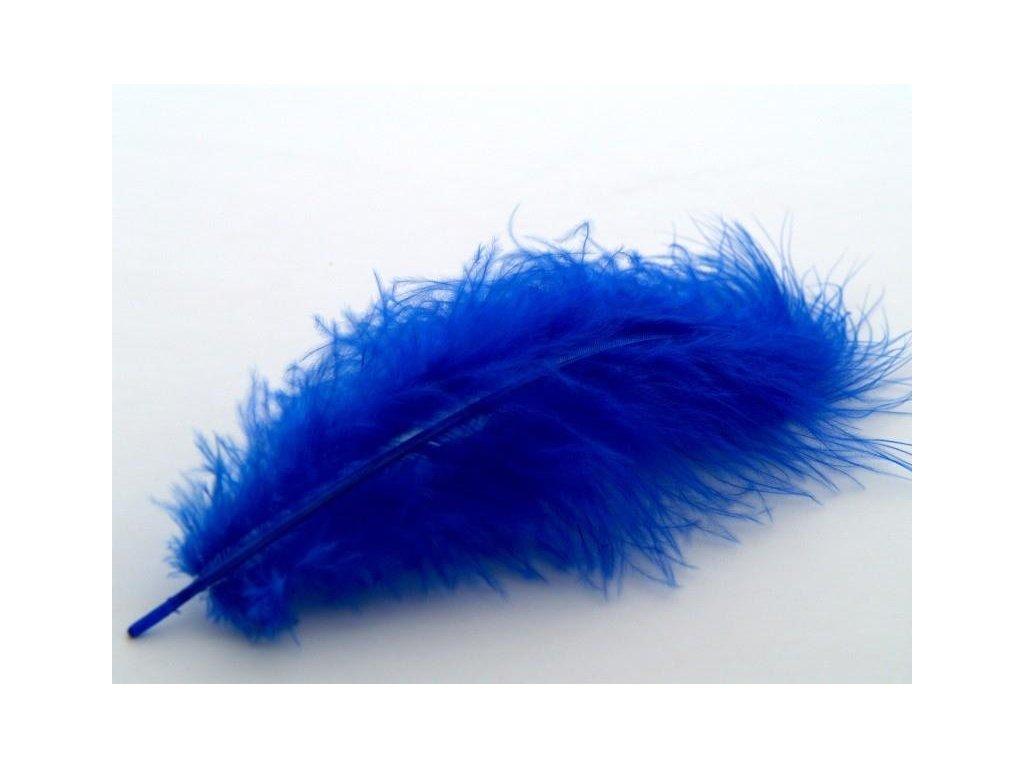 10 x peří Marabu tmavě modré, velké