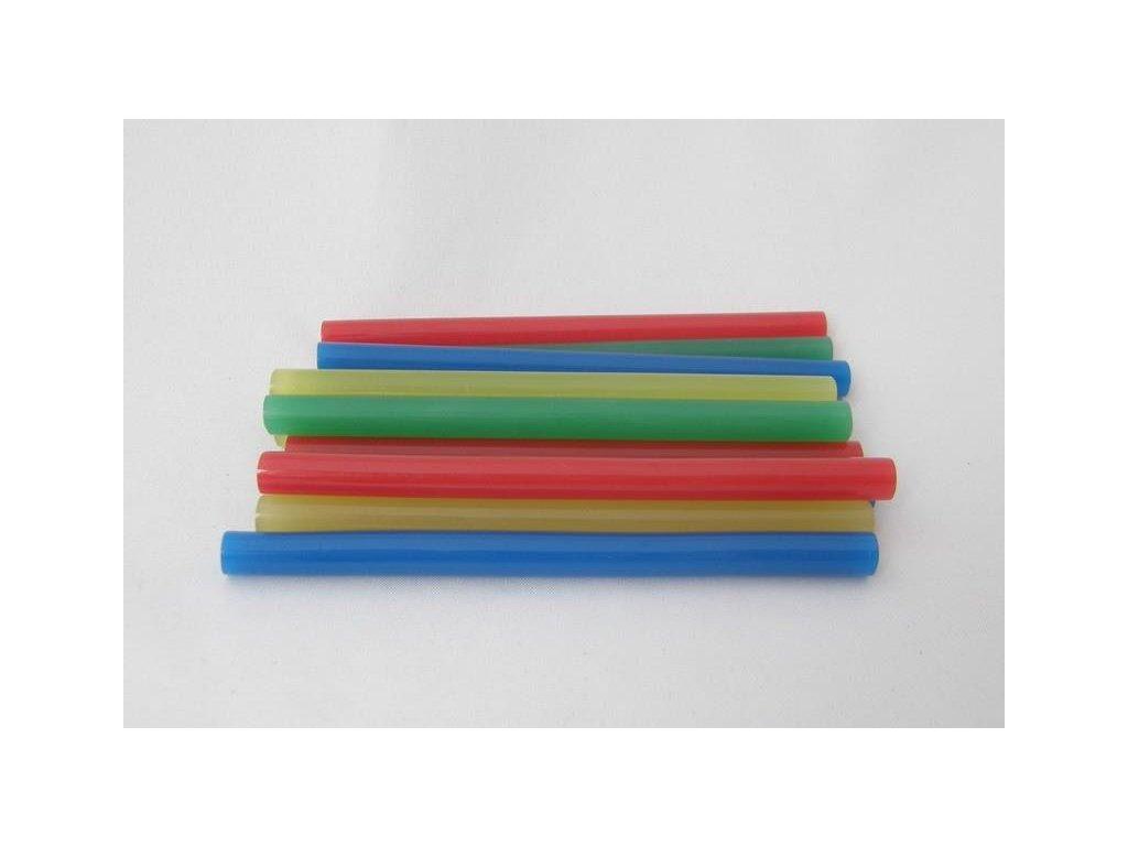 barevný mix tavných tyčinek 7,5 mmx10 cm