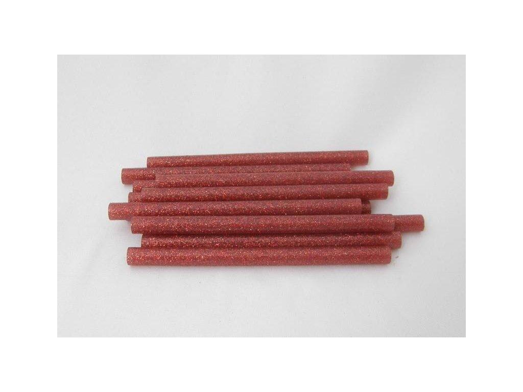 červené s glitry tavné tyčinky 7,5 mmx10 cm