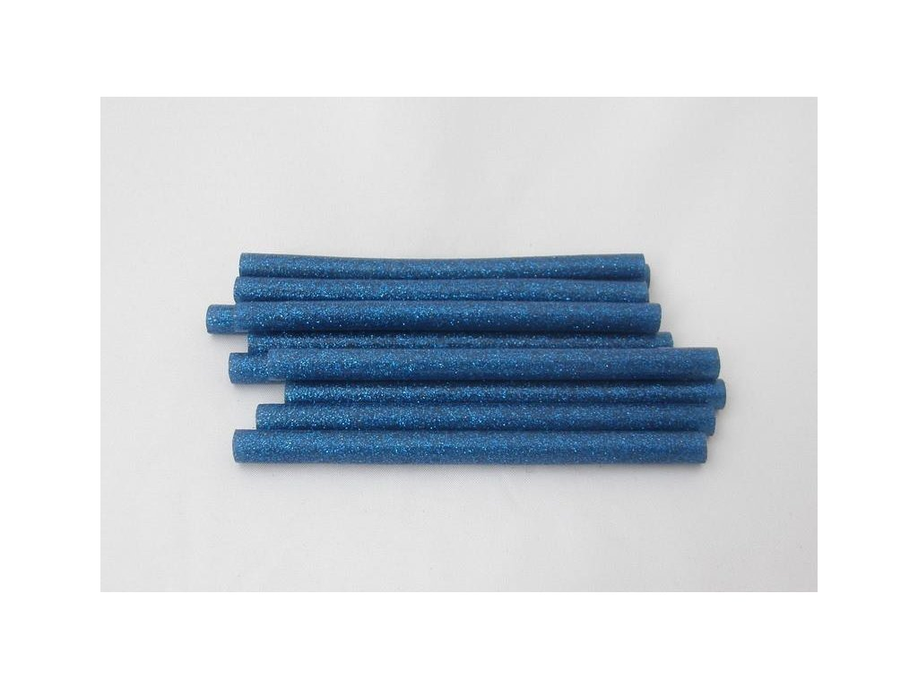 modrá s glitry tavné tyčinky 7,5 mmx10 cm