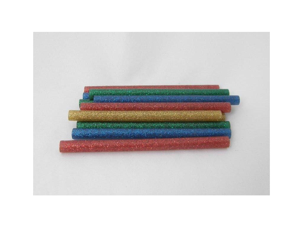 mix barevných lepicích tyčinek s glitry 7,5 mmx10 cm