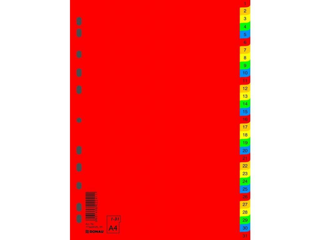 Donau, rozlišovač barevný číselný 1-31