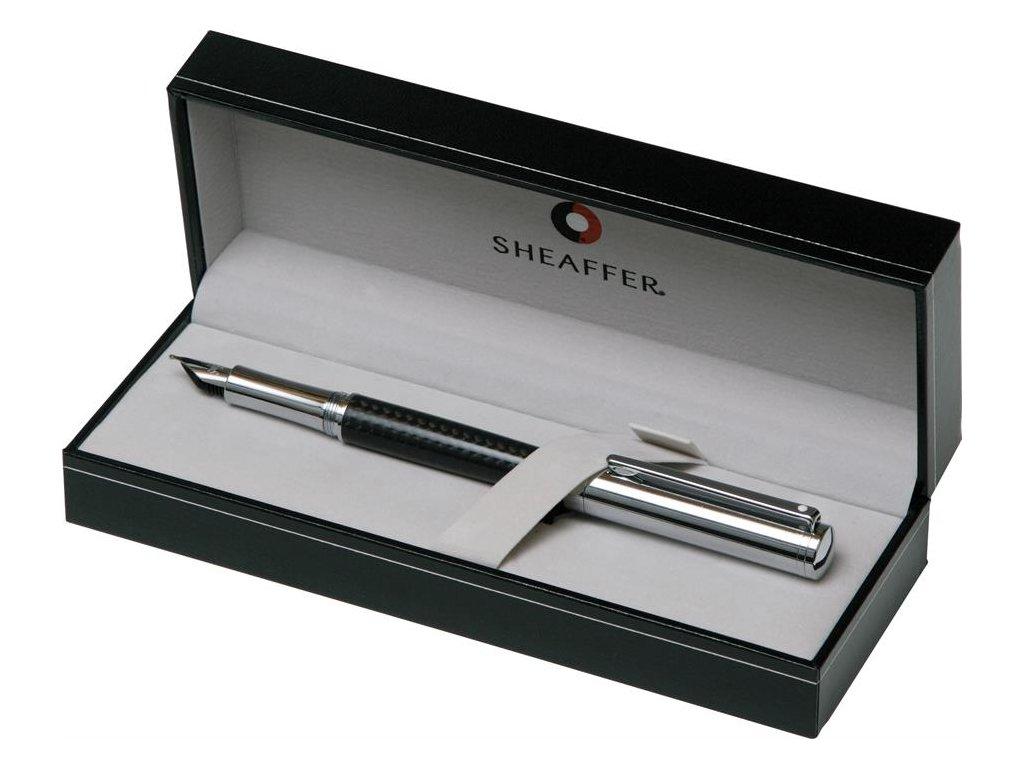 Sheaffer, Intensity plnicí pero, Carbon Fiber Barrel, Bright Chrome Cap, Chrome Trim (karbon, chrom)