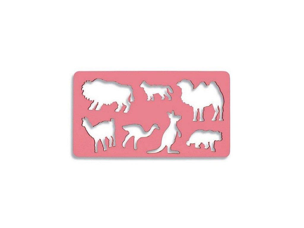 Koh-i-noor, šablona exotická zvířátka