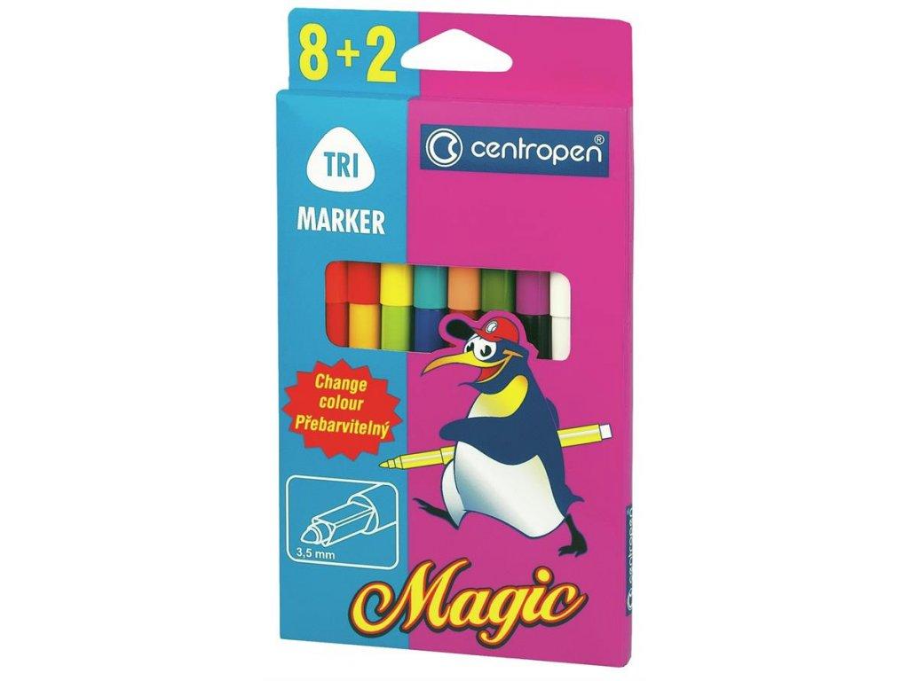 Centropen, sada popisovačů 2549/8+2 Magic - 8 barev + 2 zmizíky