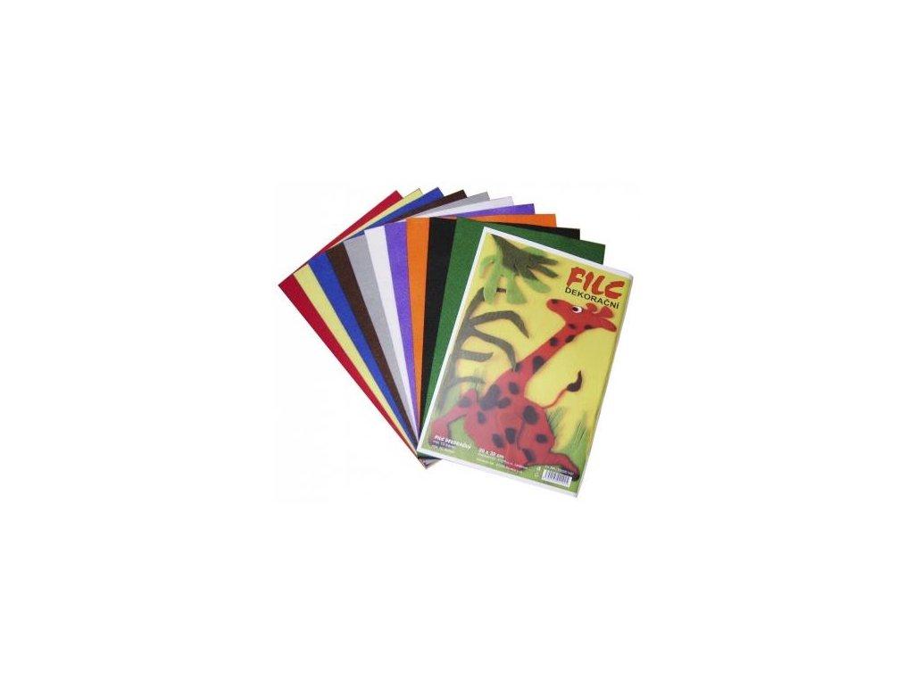 Stepa, dekorační filc 20x30, barevný mix
