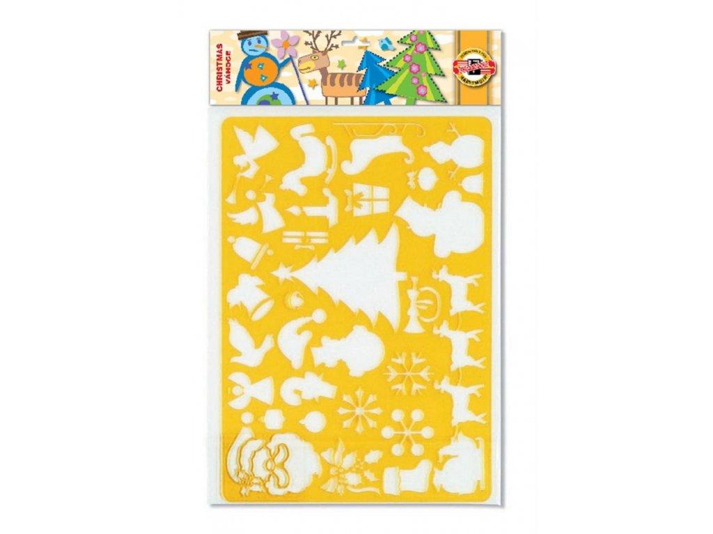 Koh-i-noor, vánoční šablona 9820