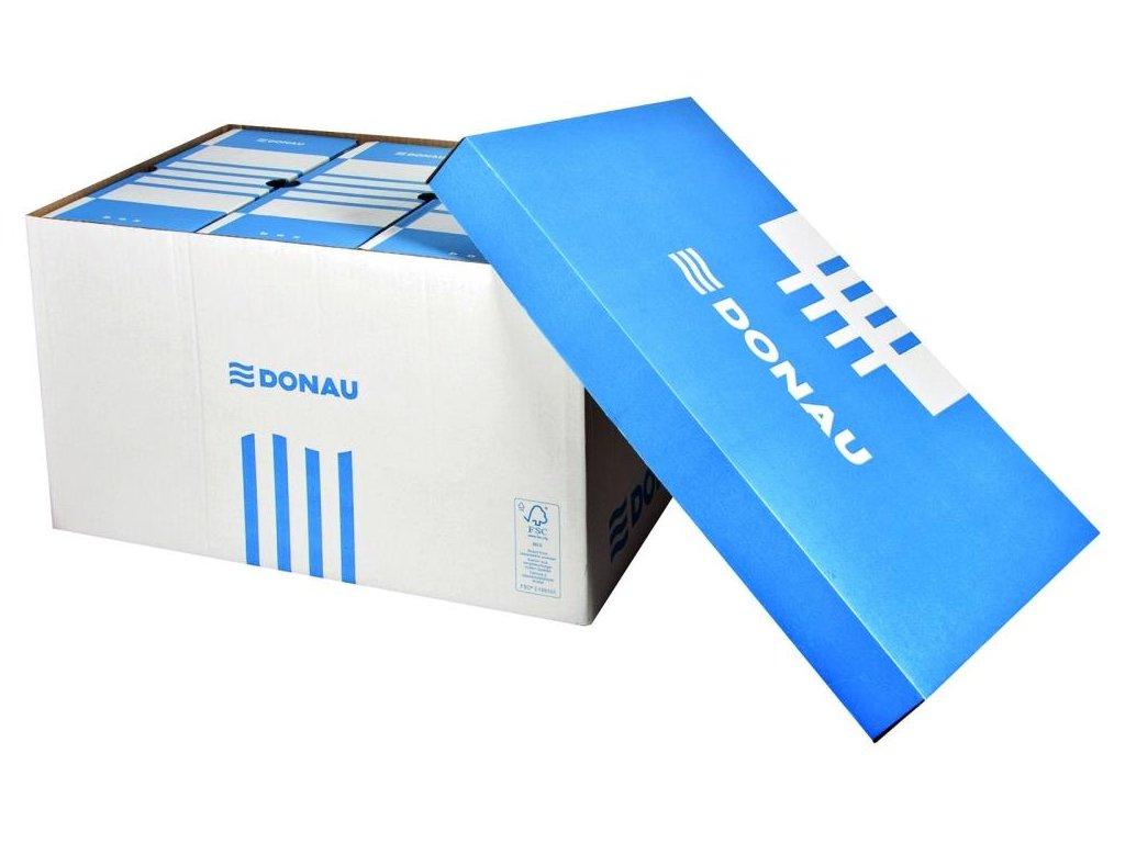 5 x Donau, modrá archivační krabice s víkem, 522x341x305 mm