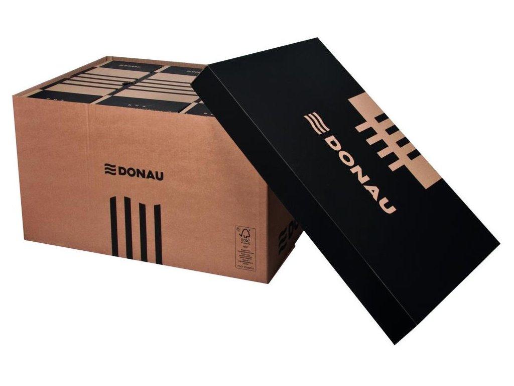 5 x Donau, hnědá archivační krabice s víkem, 522x341x305 mm