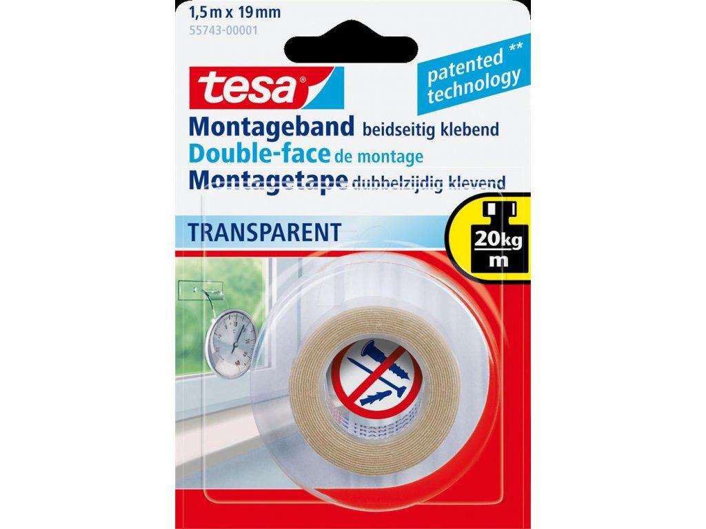 TESA, průhledná montážní pěnová páska interiérová