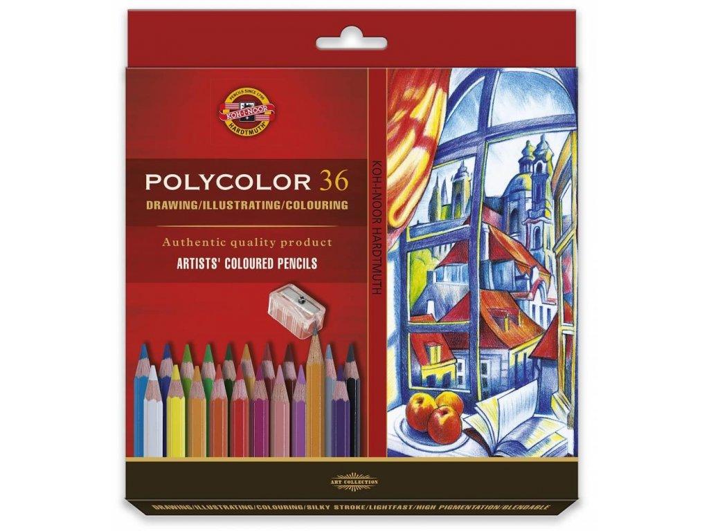 Koh-i-noor, umělecké pastelky POLYCOLOR 36,  36 ks