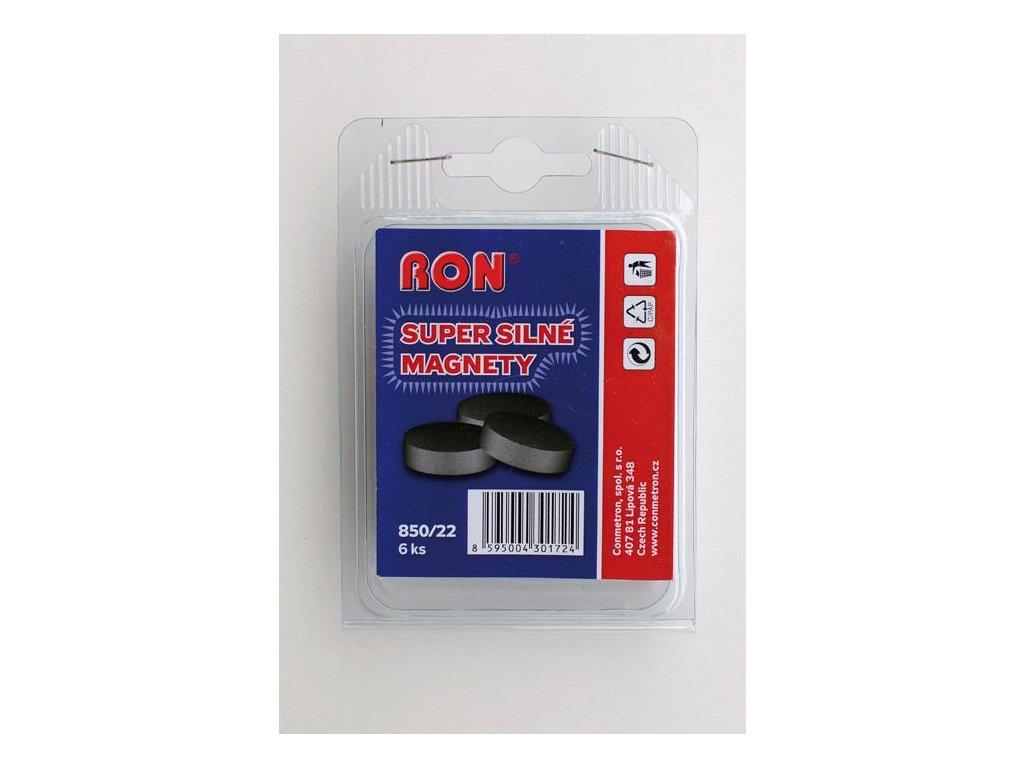 magnet Conmetron, průměr 22 mm, 6 ks