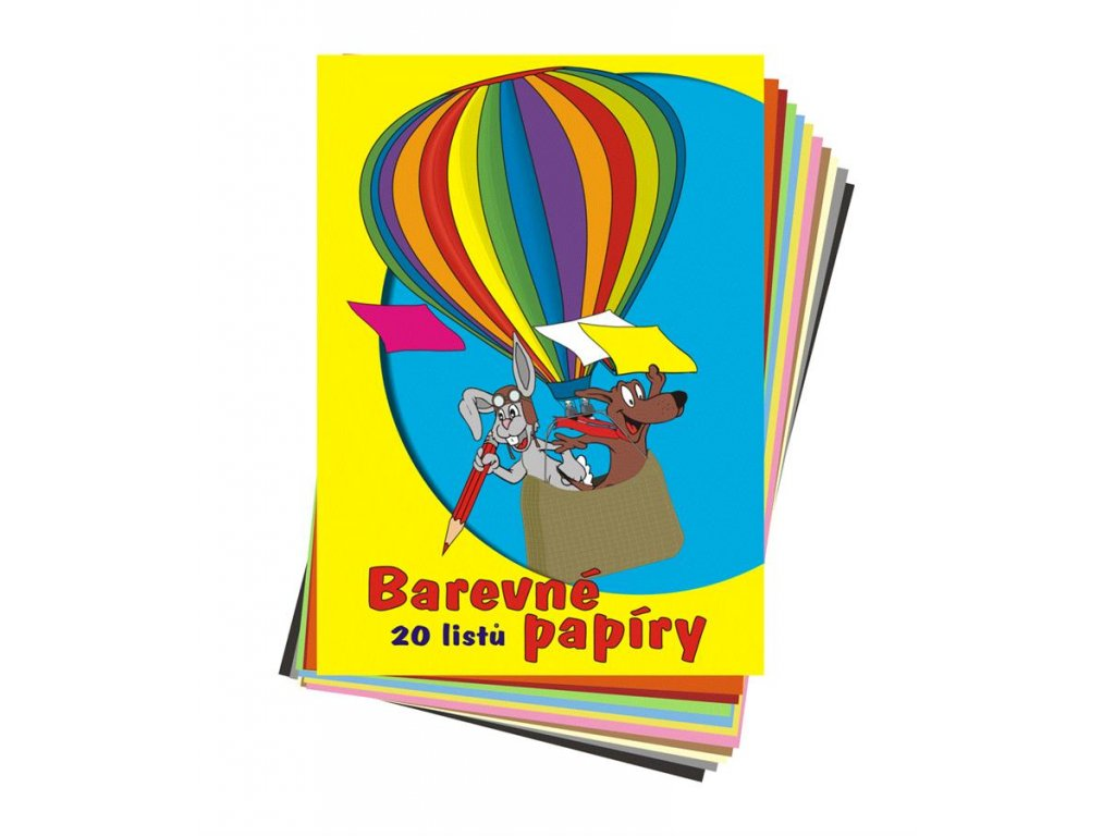 STEPA, barevné školní papíry, 20 listů