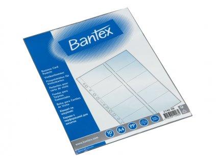 Bantex, obal na vizitky, A4, závěsný, baleno po 10 ks
