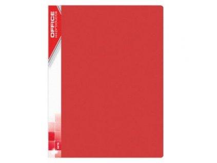 Office, červená prezentační katalogová kniha, 10-40 kapes
