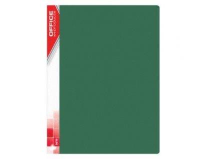 Office, zelená prezentační katalogová kniha, 10-40 kapes