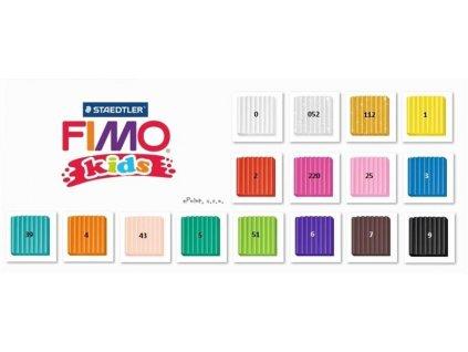 FIMO modelovací hmota Kids 42g., STAEDTLER, 16 odstínů na výběr