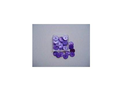 Knoflíky perleťové, 15 mm kulaté, 25 ks