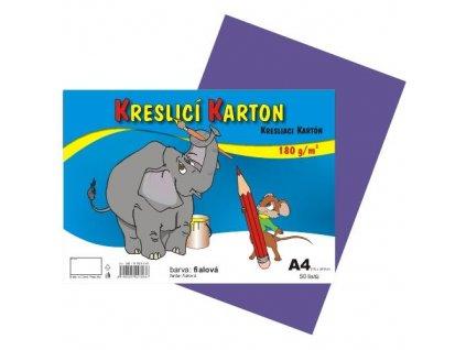 kreslicí karton A4, barevná čtvrtka, 180g/m, 50 listů