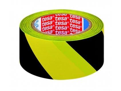 TESA, značkovací páska pro trvalé značení, 33 m x 50 mm, PVC,  žluto-černá