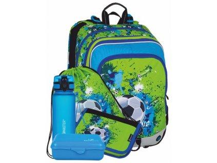 Klučičí školní batoh v setu fotbal BAGMASTER Velký SET ALFA 8 C