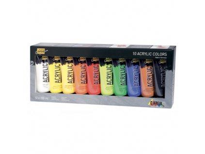 Sada Akrylová barva SOLO GOYA 100 ml v tubě 10 barev