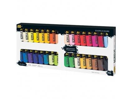 Sada Akrylová barva SOLO GOYA 20 ml v tubě 32 barev