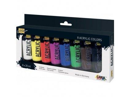 Sada Akrylová barva SOLO GOYA 20 ml v tubě 8 barev