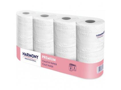Harmony, toaletní papír, 2-vrstvý, bílý, 16 role