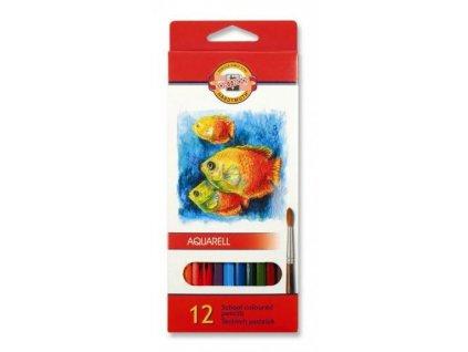 Koh-i-noor, mondeluz školní akvarelové pastelové tužky 3716 12 ks v sadě