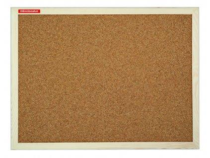 nástěnka, korková tabule 40x30 cm dřevěný rám