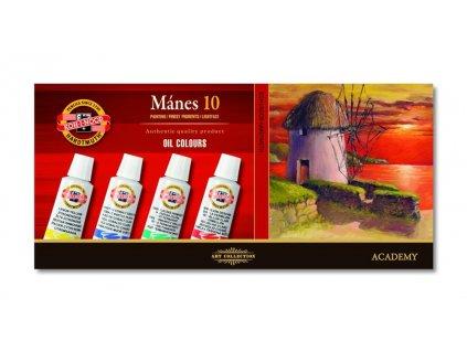Koh-i-noor, olejové barvy 1615 Mánes sada 10 barev 16 ml.