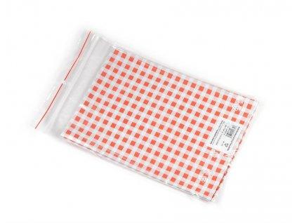 ubrus, PVC, červené káro 65x50 cm