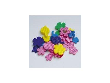 výseky, květiny 24ks/bal., pěnová guma