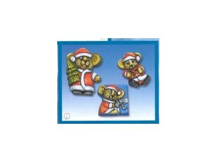 Forma na odlitky, vánoce, myši, 3 ks