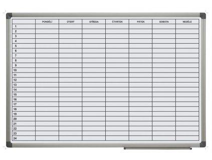 Týdenní plánovací tabule, 90 x 60 cm