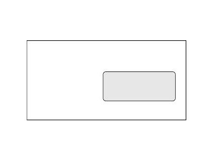 obálka DL podlouhlá samolepicí s páskou, okénko vpravo, 1000 ks