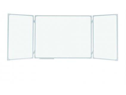 magnetická rozkládací školní tabule, trojdílná, keramický povrch, triptych